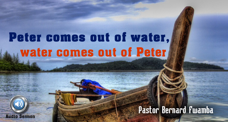 peter out of water