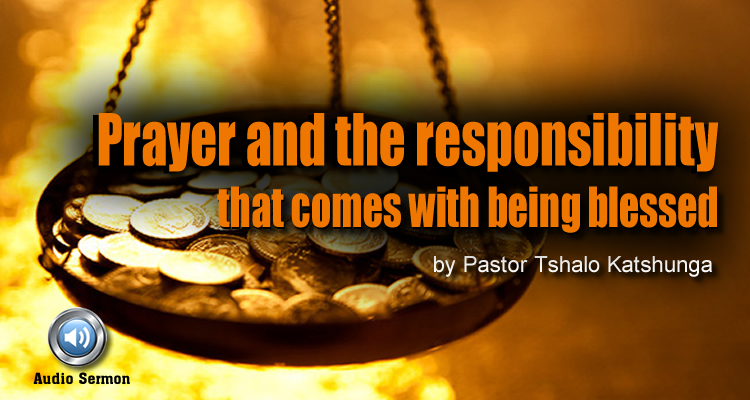 prayer esponsibility of being blessed
